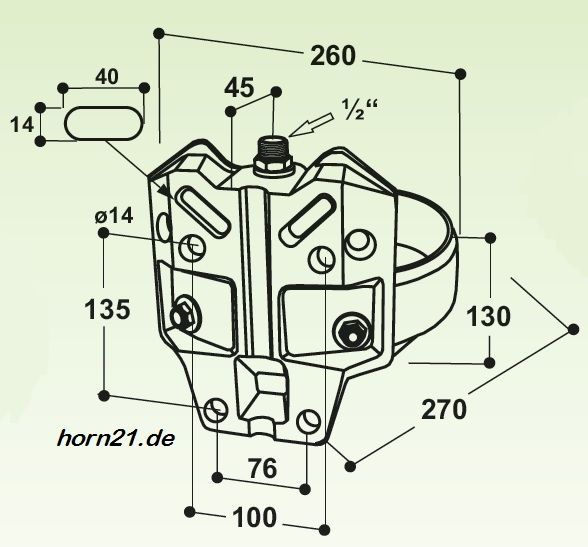 100.1100 Suevia Edelstahl Tränkebecken Mod 1100 mit 1//2 Messing-Ventil