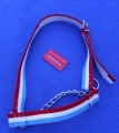 Cow Halter with Chin Chain  blue-white-red
